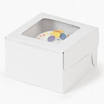 White Cupcake Boxes Single Bakery Solid Window Boxes 12 Pk Baking Suppli... - $14.95