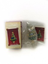 "HALLMARK 2005 ""TRIM A TINY TREE"" FABRIC & METAL KEEPSAKE ORNAMENT Christ... - $9.89"
