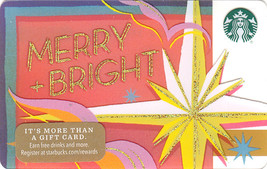 Starbucks 2017 Merry & Bright Collectible Gift Card New No Value - $3.99