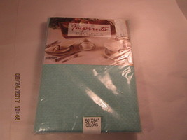 """Fabric Tablecloth 60""""x84"""" Oblong Jade Wrinkle Resistant - Made in USA - $9.70"""