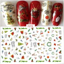 """HS Store - 1 Sheet """"F272"""" 3D Nail Art Stickers Christmas Decoration - $2.64"""