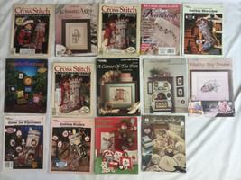 14 Cross Stitch Magazine And Pattern Chart Lot Xmas Stockings & More - $46.74