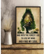 Watercolor And Into The Forrest I Go Camping, Art Prints Poster Home Dec... - $25.59+