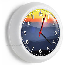 Tennessee Great Smoky Mountains Sunrise Wall Clock Kitchen Dining Bedroom Decor - $23.39