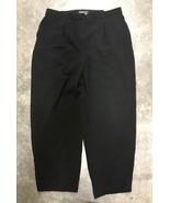 Jones New York Woman Dress Pants 16W Black Triacetate Flat Front Elastic W5 - $29.69