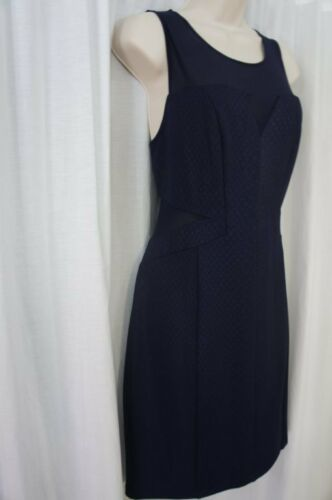 Guess Los Angeles Dress Sz 12 Midnight Blue Sheer Sleeveless Cocktail Party  image 3