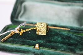 Vintage Gold lapel pin art deco style #L48 - $12.16
