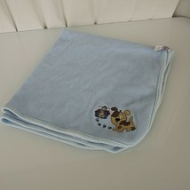 Just Born Thermal Cotton Waffle Weave Blue Baby Boy Puppy Dog Blanket Pawprint - $39.59