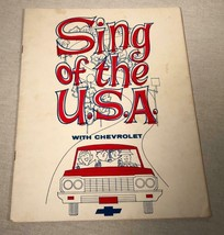 """1964 Chevrolet Advertising Songbook """"Sing Of The Usa"""" Corvette Chevelle Corvair - $20.58"""