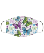 Face Mask Butterflies Butterfly Pattern v1 2 Ply Lightweight and Breatha... - $13.95