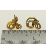 9 Carat Gold Vintage Swirl Stud Earrings 14 mm Diameter. - $63.25