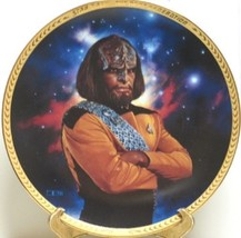 Star Trek: The Next Generation Lt. Worf Plate 1993 New Unused With Coa - $24.18