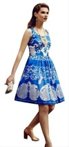 Anthropologie Azure Lace Dress Plenty by Tracy Reese Sz 0P image 2