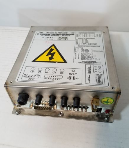 THOMSON TUBES ELECTRONIQUES POWER SUPPLY TIV 38430 TH 7195-3 WORKING CONDITION