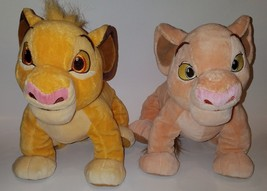 Simba & Nala 2 Lion King Disney Parks Plush Lot Stuffed Animal Toys - $38.65