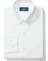 BUTTONED DOWN Men's Classic Fit Button-Collar Solid Non-Iron, White, Size 16.0