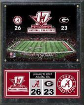 "Alabama Crimson Tide 2017 National Champions 15""x12"" Plaque - $42.95"