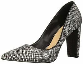 Jewel Badgley Mischka Women's RUMOR II Shoe, Black Fabric, 9 M US - $135.16