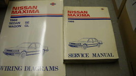 1988 Nissan Maxima Service Shop Repair Manual Set OEM W Wiring Diagram Book - $44.50