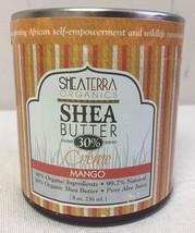 Shea Terra Organics Shea Butter 30% Crème 8oz Mango Natural Moisturizer - $19.17