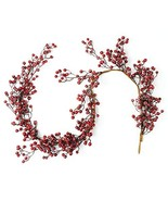 """CraftMore Iced Red Berry Garland 72"""" - $120.98"""