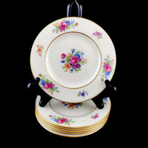 Lenox Rose Fine China Ivory Dresden Floral 6 Bread Plates Made USA Retir... - $28.01