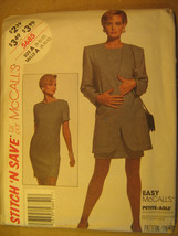 Uncut Pattern 1992 Easy Mc Call Size 8 10 12 Misses Jacket Dress 5685 [Z25] - $3.99