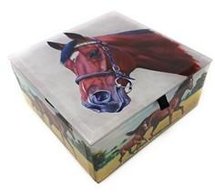 Value Arts Horse Glass Keepsake Box, Beveled Edges, Velvet Lined, 4.7 In... - $39.89