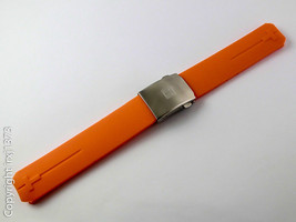 Orange rubber strap watchband for T-Touch Z253/Z353 Z252/Z352 20mm w cl - $36.63