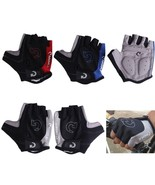 anti slip cycling gloves half finger gel bicycle riding gloves anti slip for mtb road thumbtall