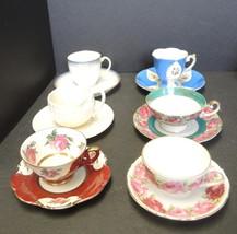 Six Antique Demitasse Cups & Saucers  #3 - $37.99