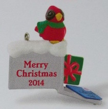 Hallmark 2014 A Merry Mailbox Club Repaint Cardinal Miniature Ornament - $12.95