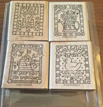 Stampin Up! Gifted Greetings Wooden Rubber Stamp Set - New 1998 - $8.99