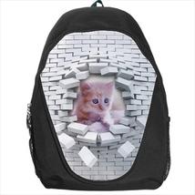 backpack school bag kitten wall cat - $39.79