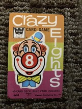 Vintage 1951 Whitman Crazy Eights 45 Card Game With Plastic Case Incomplete - $4.72