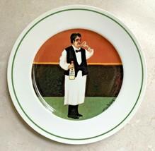 "Williams Sonoma Sommelier Waiter Man Guy Buffet 7 3/4"" Salad Plate Vodka Martini - $21.95"
