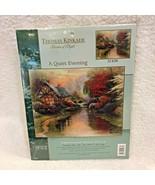 2003 MIP Candamar Thomas Kinkade Embellished Cross Stitch Quiet Evening ... - $22.28