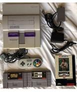 ☆ Super Nintendo System Console Bundle W/ 2 SNES Games Lot - Tested Works ☆ - $65.00