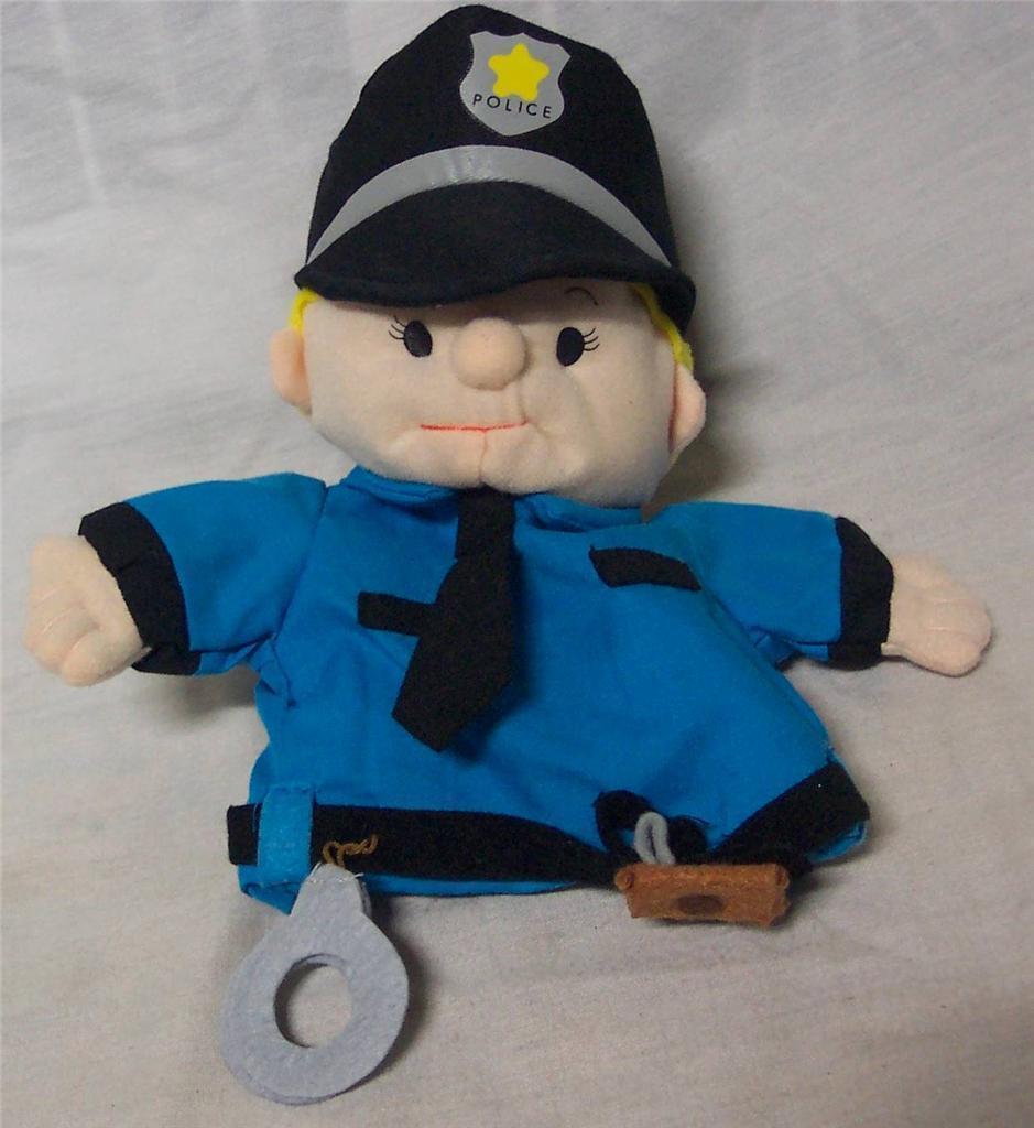"Lillian Vernon POLICE MAN HAND PUPPET BOY 8"" Plush STUFFED ANIMAL Toy - $14.85"