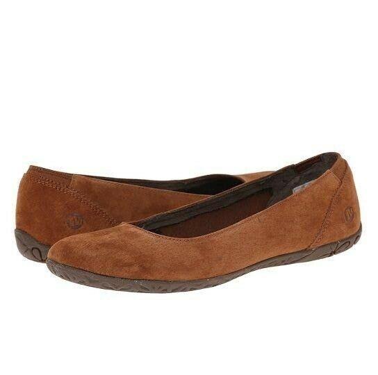 Merrell Suede Leather Ballet Flats Shoes Mimix Bond Oak Brown Women's size 7 - $34.64