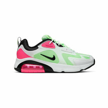 Nike Women Air Max 200 Sneakers White Black Green Pink CJ0629 100 Size 8.5 - $109.95