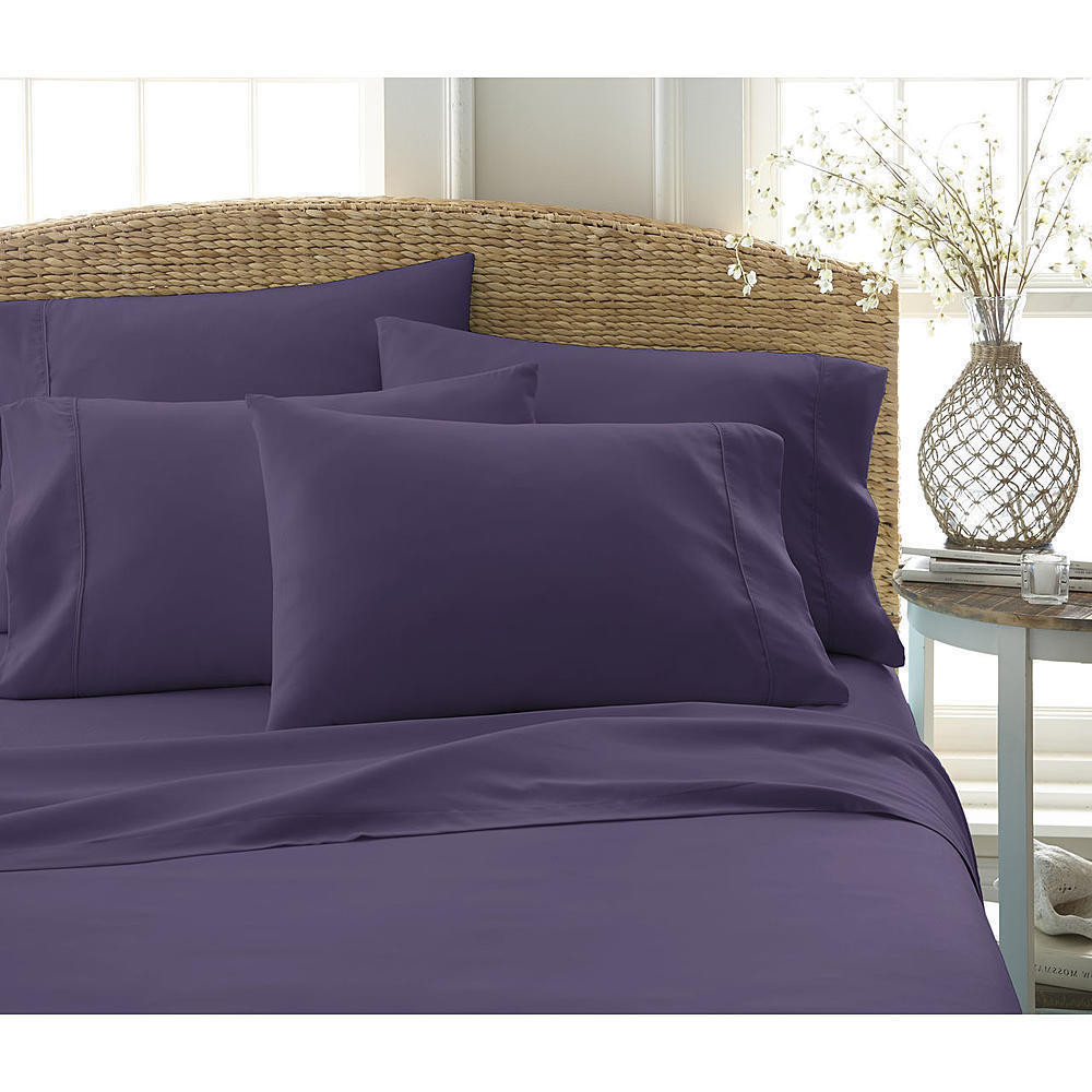 Ultra Soft 6 Pc Bed Sheet Set Queen Premium Bed Luxury Linen Collection purple