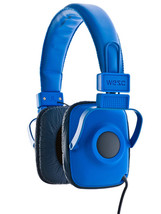 WeSC Maraca Imperial Blue Unisex Foldable Headphones with Microphone NIB