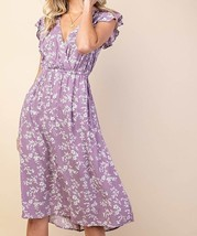 Purple Floral Dress, Pretty Floral Summer Dress, Lilac Floral Dress with Pockets