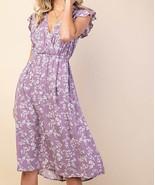 Purple Floral Dress, Pretty Floral Summer Dress, Lilac Floral Dress with... - €47,65 EUR