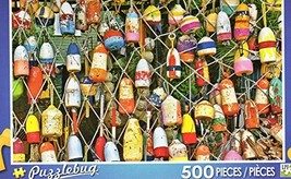 Colorful Lobster Buoys - Puzzlebug 500 Piece Jigsaw Puzzle - $14.98