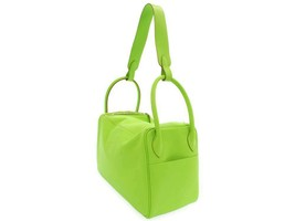 HERMES Lindy 34 Swift Apple Green #T Handbag Shoulder Bag 2way Authentic 5535644 - $4,639.11