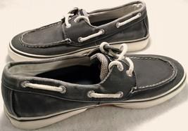 Sperry Top Sider Mens Canvas Boat Shoes Size 8 M Halyard 2 Eye Salt Wash... - $24.25