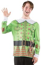 Ugly Christmas Sweater Elf Mens Adult Costume Halloween Party Thanksgiving - £37.95 GBP