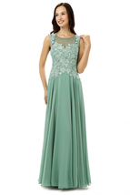 Cheap Chiffon Lace Prom Dresses Long, Formal Dress,Evening Gown, Party Dress  - $159.00